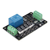 GT100 DC 12V Multifunctional Self-lock Relay Cycle Timer Module PLC Delay