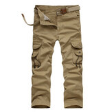 Mens Millitary Tactical Cotton Loose Trousers Casual Multi Pocket Cargo Pants