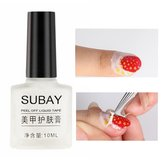 10ml White Peel Off Liquid Latex Tape Anti Overflow Glue Easy Clean Base Top Nail Gel Polish