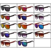 Unisex Wooden Imitation Sunglasses Mirrored Mercury Lens UV400 Protection Glasses