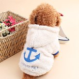 Pet Dog Clothes Apparels Coat Winter Warm Coral Velvet Costume Puppy Hoodie Hood Sweater