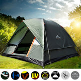 Original 4 Persons Camping Tent Double Layer Waterproof Windproof Canopy Sunshade Outdoor Hiking