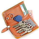 Women Men Car Keychain Holder Bag Wallet Zipper Card Holder Purse
