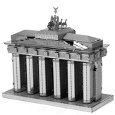 Aipin DIY 3D Puzzle Stainless Steel Model Kit Brandenburg Gate Silver Color
