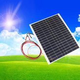 12V 20W 45CM x 35CM PolyCrystalline Solar Panel With Alligator Clip Wire