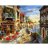 Digital Oil Painting DIY Oil Painting By Numbers Paint Kits Town Frameless Canvas Home Wall Decor 40x50cm