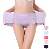 Women Elastic Seamless Cotton High Waist Abdomen Shaping Multi-color Underwear Panties