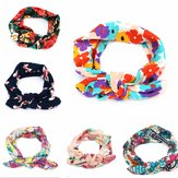Kids Baby Girl Infant Floral Flower Bow Hairband Turban Knot Rabbit Headband Headwear Accessories