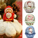 20Pcs Christmas Cupcake Cups Liner Muffin Candy Nut Snack Greaseproof Dessert Baking Cups