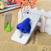 Original Nose Creative Silicone Sucker Stand Holder Cable Organizer For Smartphone Key Chain Earphone