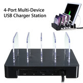 Universal 4 Port USB Charger Station Detachable Multi-Device Charging Dock