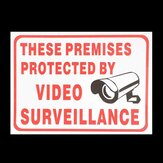CCTV Camera Sign Sticker Self-adhensive Decal These Premises Projected By Video Surveillance
