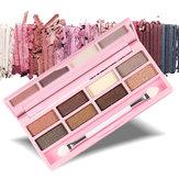 Nanda Eight-colors Eyeshadow Palette Set Crystal Glitter Eye Shadow Sponge Brush Eyes Makeup