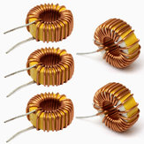 5Pcs 33UH 3A Toroidal Wound Inductor Nude Inductance Magnetic Inductance