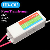 HB-C02 Plastic Neon Electronic Transformer 5-25W 3KV 30mA Load Neon Sign Power Supply
