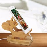Tounee Universal Wooden Deer Phone Stand Lazy Holder Mobile Bracket for iPhone Samsung Xiaomi HTC