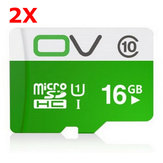 2 X OV UHS-I Class10 16GB Micro SD SDHC Card TF Card For Mobile Phone