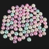 3000pcs 4mm Mixed Colors Half Round Flatback Pearls Scrapbook Beads