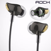 ROCK Zircon In-Ear Wire Control Stereo Nylon Weaving Stereo Earphone For iPhone Samsung HUAWEI