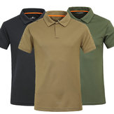Mens T-shirts Breathable Quick Dry Outdoor Casual Lapel Short Sleeved Polo T-shirt