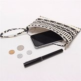 Original Universal Canvas Pattern Cloth Bag Durable Phone Case Wallet Case for under 6.5 inches Smartphone