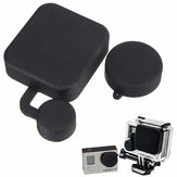 Black Camera Lens Protective Cap With Housing Case Cover Set For Gopro Hero 3 3 Plus 4