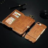 Floveme Retro Vintage Leather Multifunctional Wallet Case Detachable Phone Case For iPhone 7 Plus