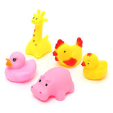 12Pcs Cute Soft Rubber Float Sqeeze Sound Wash Bath Play Animals Play Toys