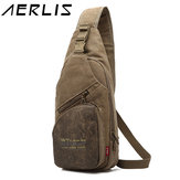 AERLIS Men Canvas Multifunctional Sport Casual Chest Crossbody Bag