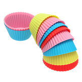10Pcs Silicone Round Cake Muffin Chocolate Molds Cupcake Cups
