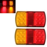 2x 12LED Trailer Truck Stop Rear Tail Indicator Light E-Marked 12V