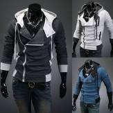 China Wholesale Mens New Solid Color Slim Fit Zipper Cardigan Hoodies Coat