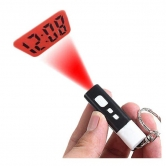 China Wholesale Mini Tiny LCD Projector Projection Digital Clock With Key Chain Ring