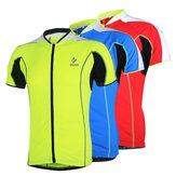Arsuxeo Bike Bicycle Cycling Tops Clothing Men's Short Sleeves Cycling Jersey Sportswear
