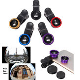 3 In 1 Clip Fish Eye Lens Wide Angle Macro Lens For Iphone 6 6 Plus Samsung Smartphone