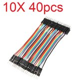 10X40pcs 30cm Male to Male Color Breadboard Cable Jump Wire Jumper For RC Models