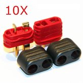 10 Pair X Amass T Plug Connector Male Female With Sheath