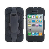 Armor Robot Design with Back Clip PC Back Case Cover For iPhone 4 4S