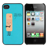 Cute Sad Cartoon Wound Plastic Hard Cover Case Skin For iPhone 4 4s
