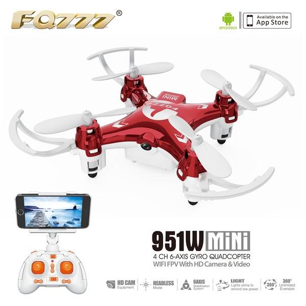 FQ777-951W MINI WIFI FPV With 0.3MP Camera Headless Mode RC Quadcopter RTF