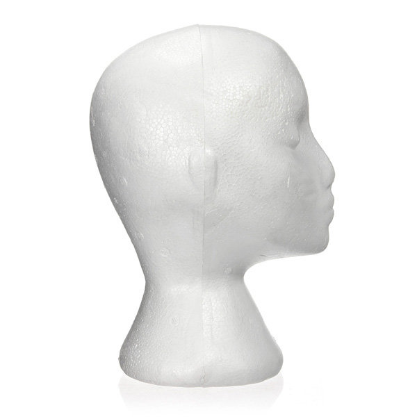Wholesale Styrofoam Bald Mannequin Head Stand Foam Manikin HeadStyrofoam Mannequin Head
