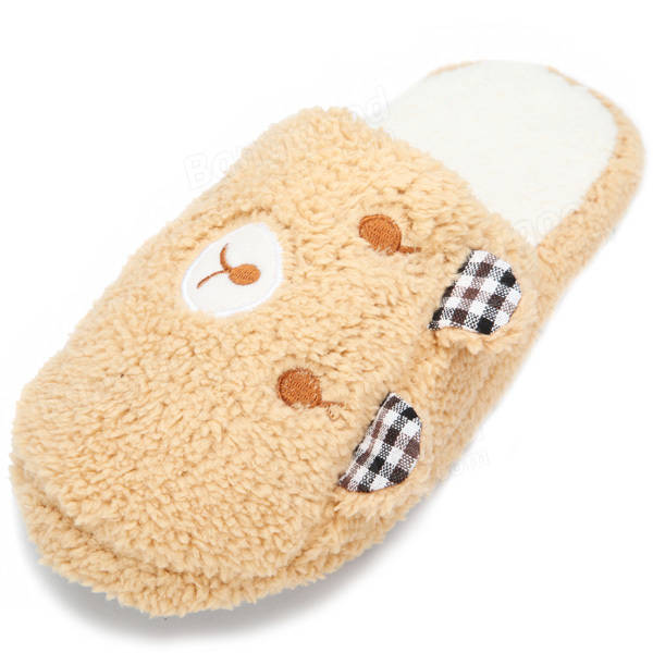 Winter Lovers Ears Bear Slippers Warm Soft Cotton Home Shoes