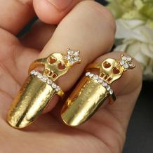 Gold Silver Crystal Flower Animal Fingernails Ring 15 Style Jewelry