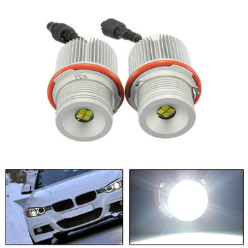 40W LED Angel Eyes Halo Ring Marker Light Error Free For BMW E39 E60