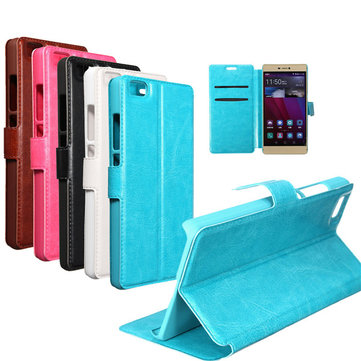 MOHOO Magnetic Flip Leather Wallet Stand Case Cover For Huawei Ascend P8 5.2''