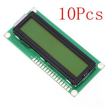 10Pcs 1602 Character LCD Display Module Yellow Backlight For Arduino