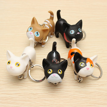 Cute Cat Kitten with Bell Key Chains Keychain 916117