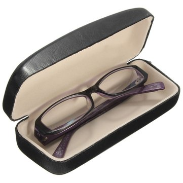 PU Leather Hard Case Box for Riding Eyeglass Sunglasses Reading Glasses