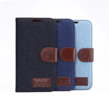 Jeans Pattern Cloth TPU Flip-open Case For Samsung Galaxy S6 G9200