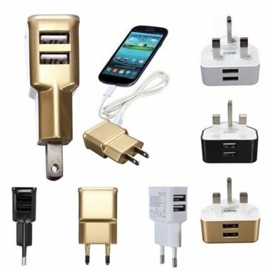 Dual USB Ports UK Plug Wall Charger For Samsung Note 3 S3 S4